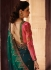 Green Barfi silk Indian Designer Saree