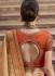 Beige and orange organza Indian wedding Saree