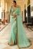 Light green Barfi silk saree Indian wedding saree double blouse
