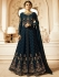 Drashti Dhami Navy blue vaishnavi georgette wedding anarkali