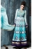 Charming Blue Georgette Weddingwear Semi-Stitched Floor Length Suit
