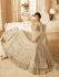 Drashti Dhami off white net and silk wedding anarkali