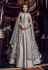 Grey color net and silk Indian wedding Lehenga kameez