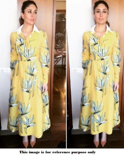 Bollywood Kareena Kapoor Yellow collar style gown