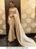 Bollywood Deepika Padukone white and red Net saree
