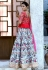 Multi color silk Indian wedding lehenga choli