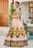 Peach color silk Indian wedding lehenga choli