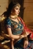 Blue designer Indian wedding Banarasi silk Lehenga