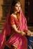 Navy Blue and Pink Banarasi silk Indian wedding lehenga