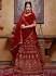 Maroon velvet Indian wedding lehenga