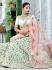 Mint green silk Indian wedding lehenga