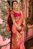 Light pink Indian Wedding Silk saree