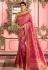 Rose and Yellow Indian Wedding silk saree