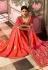 Salmon Pink Indian wedding Silk saree