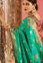 Green and red Indian wedding silk Saree
