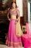 Decent Hot Pink Banarasi Embroidered Lehenga Choli