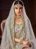 Grey color pure organza silk Indian wedding lehenga