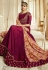 Magenta Barfi Silk Indian Wedding anarkali