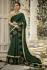 kajal aggarwal dark green colour saree 2204