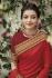 kajal aggarwal dark red colour saree 2202