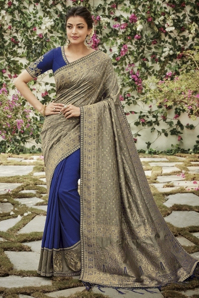 kajal aggarwal blue and gray colour 1204KM