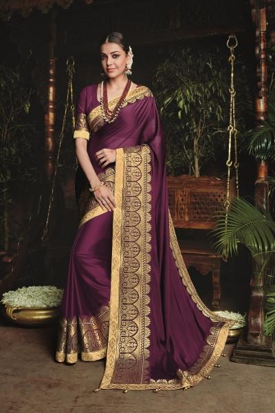 kajal aggarwal burgundy colour 1219KM