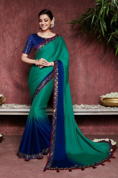 kajal aggarwal blue colour 1226KM