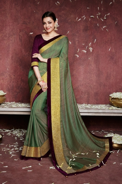 kajal aggarwal olive green colour 1228KM
