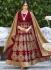 Bedazzling Red Velvet Anarkali Salwar Suit