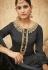 Grey Pure Silk Sharara Style Pakistani Suit 43