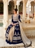 Navy Blue Embroidery Anarkali Suit
