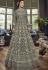 Grey Net Embroidered Long Designer Anarkali Suit 5810F