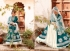 Teal green velvet anarkali suit