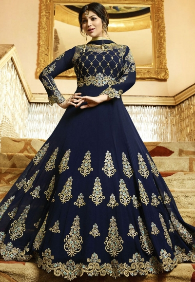 Ayesha Takia Blue Georgette Anarkali Suit 22022