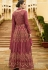 Dark Pink Silk Embroidered Anarkali Suit 102