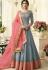 Jennifer Winget Grey Silk Floor Length Anarkali Suit 407