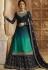 Gradient Blue Satin Georgette Lehenga and Churidar Designer Suit 3002