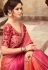 Pink Shade Satin Georgette Party Wear Saree With Border 22014