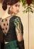 Dark Green Satin Georgette Party Wear Saree With Border 22013