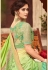 Green Shade Satin Georgette Party Wear Saree With Border 22012