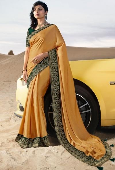 prachi desai apricot silk saree 20583