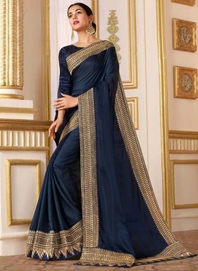 sonal chauhan midnight blue saree RG105186