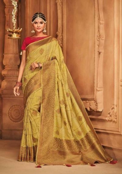 blonde silk jacquard saree 986