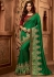 emerald green designer silk saree 2312
