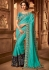 aqua blue designer silk saree 2305