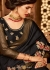 black designer silk saree 2303