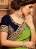 lime green designer silk saree 2302