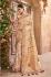Gold and Cream Banarasi pure silk wedding wear saree