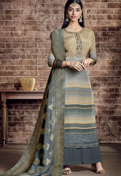 multi color viscose silk printed palazzo suit 892