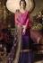 pink blue satin georgette digital printed sharara style pakistani suit 11043
